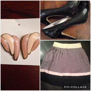 Zara skirt and Nine West pumps bundle
